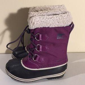 Sorel Yoot Pac Waterproof Girls Winter Boots Sz 3